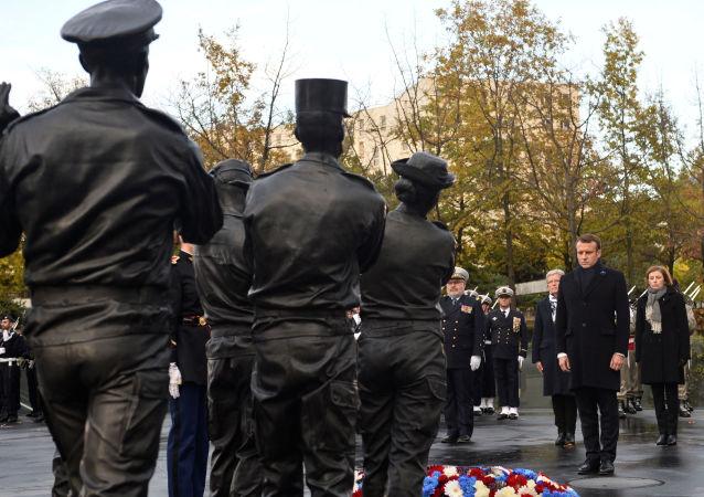 Emmanuel Macron inaugure le monument aux Morts pour la France en opérations extérieures, 11 novembre 2019