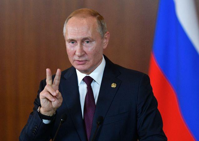 Vladimir Poutine en visite au Brésil