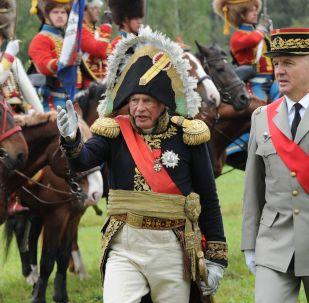 Oleg Sokolov (à gauche) lors d'une reconstitution historique