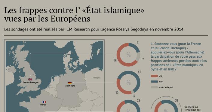 Lutte contre l'EI: les frappes aériennes vues par les Européens