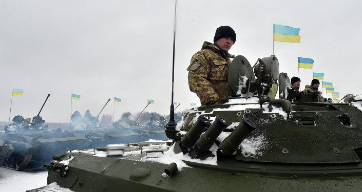 Militaires ukrainiens dans l'est de l'Ukraine