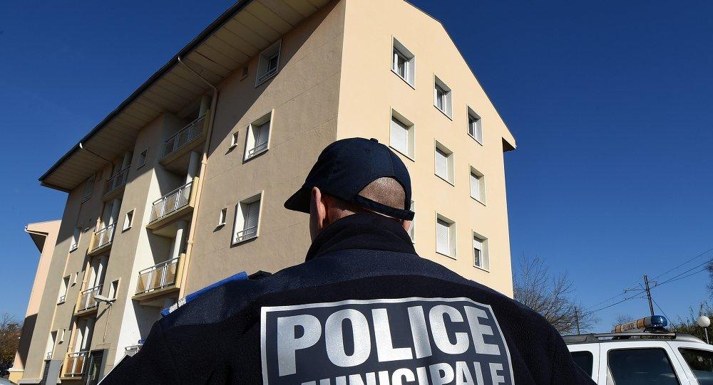 Le bâtiment où demeuraient les Tchétchènes interpellés, Béziers