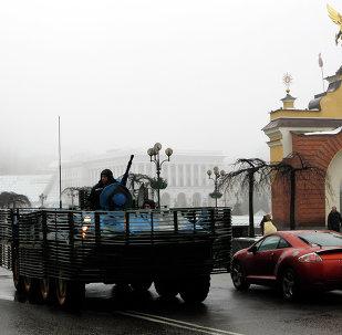 Militaires ukrainiens à Kiev