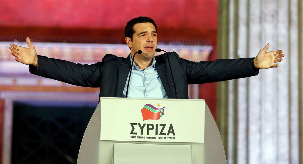 Alexis Tsipras, leader du bloc Syriza