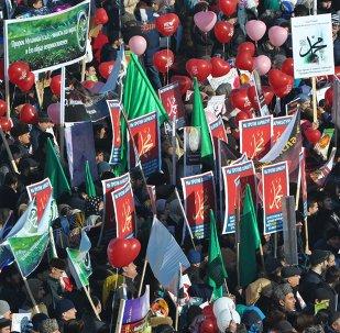 Manifestation contre les publications offensant le prophète Mahomet