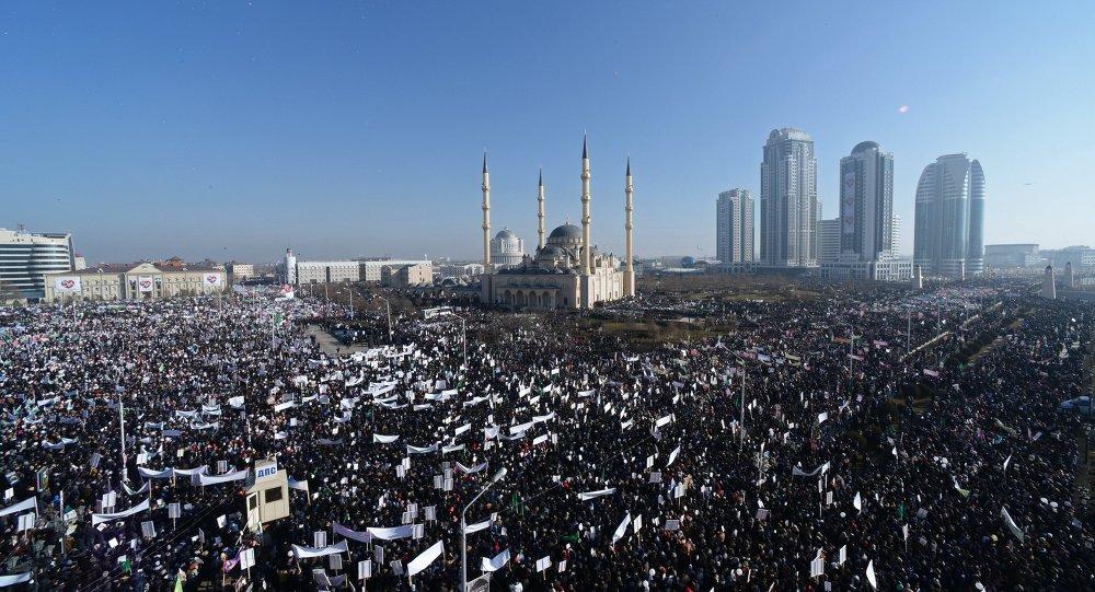 Manifestation en faveur des valeurs islamiques