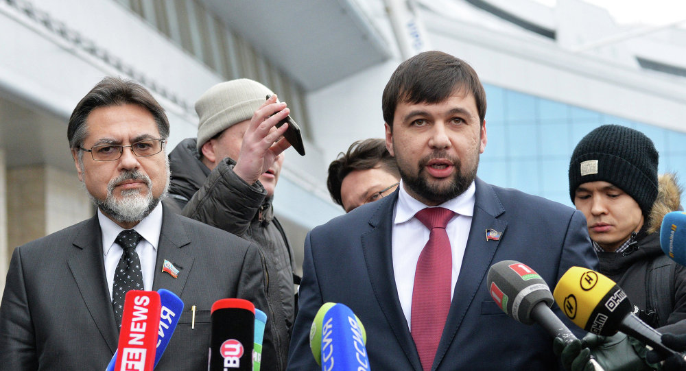 Vladislav Deïnego (à gauche) et Denis Pouchiline (à droite)