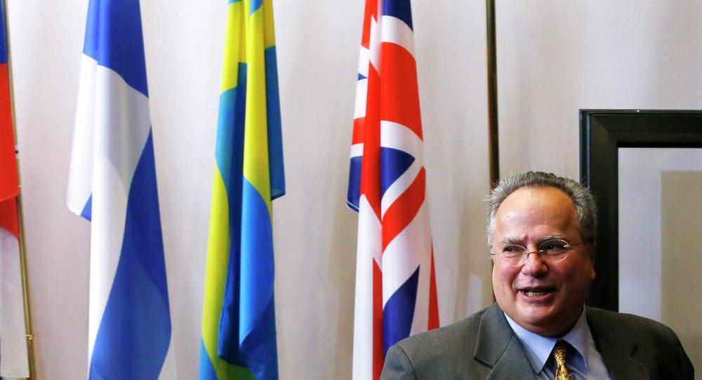 Ministre grec des Affaires étrangères Nikos Kotzias