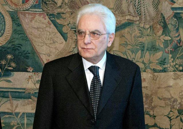 Sergio Mattarella, président de l'Italie