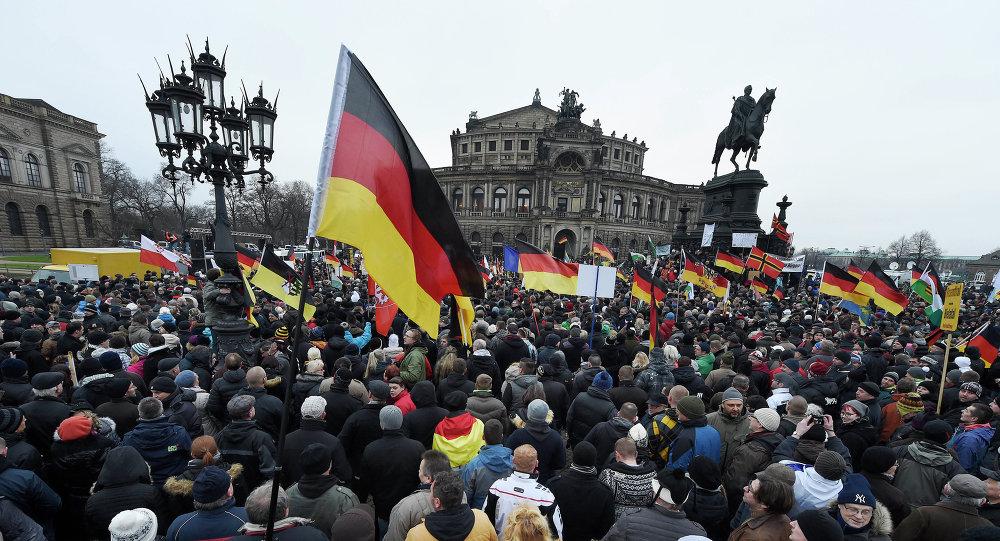 Une manifestation contre l'immigration à Dresde