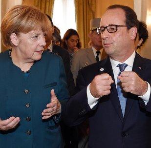 La chancelière allemande Angela Merkel et le président français François Hollande (Archives)