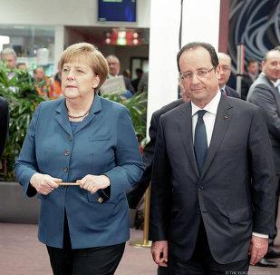 La chancelière allemande Angela Merkel et président français François Hollande (Archives)