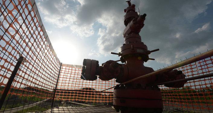 Un appareil de forage de gaz de schiste