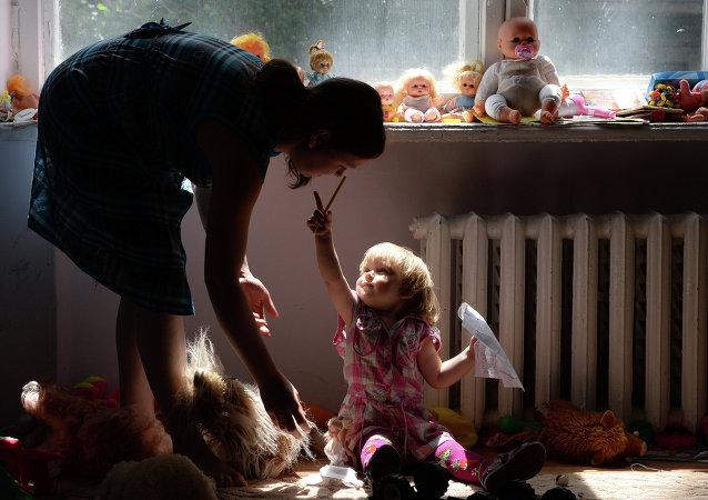 Les réfugiés de Slaviansk