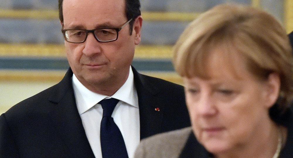Poutine reçoit Hollande et Merkel: une rencontre d'espoir