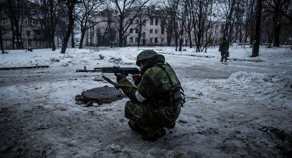 Un insurgé prorusse  à Donetsk (Archives)