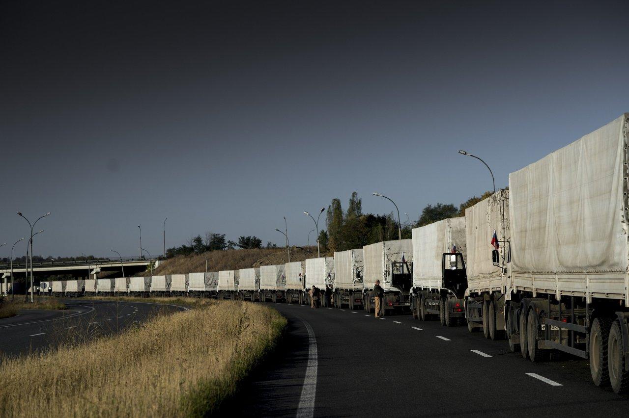 Le 22 août, 280 camions d'aide humanitaire de Russie sont arrivés à Lougansk