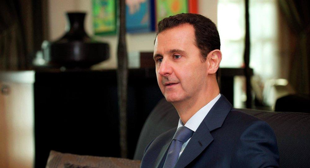 Bachar el-Assad, président de la Syrie, lors d'une interview au magazine Foreign Affairs
