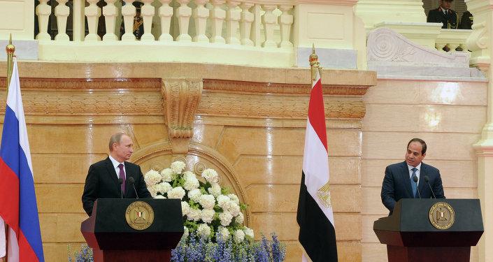 Vladimir Poutine et Abdel Fattah Al-Sissi