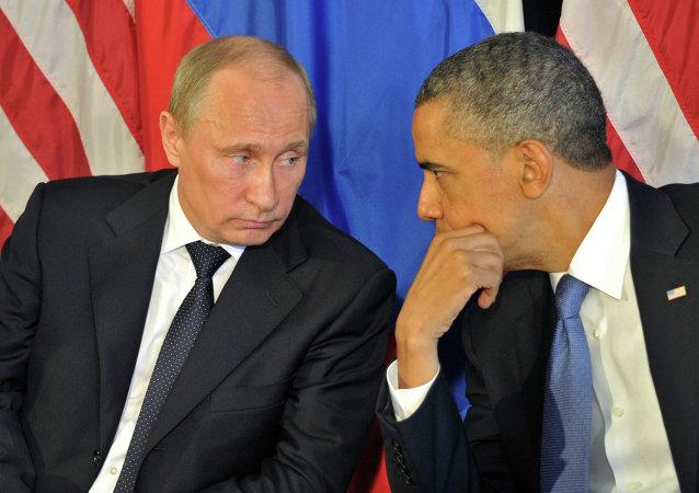 Les présidents Vladimir Poutine et Barack Obama