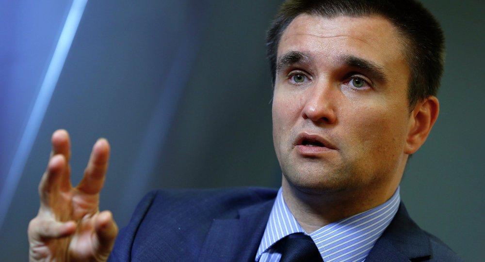Le ministre ukrainien des Affaires étrangères Pavel Klimkine