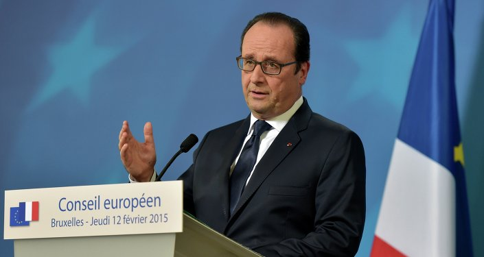 Le président français François Hollande lors d'une conférence de presse à l'issue du sommet européen à Bruxelles