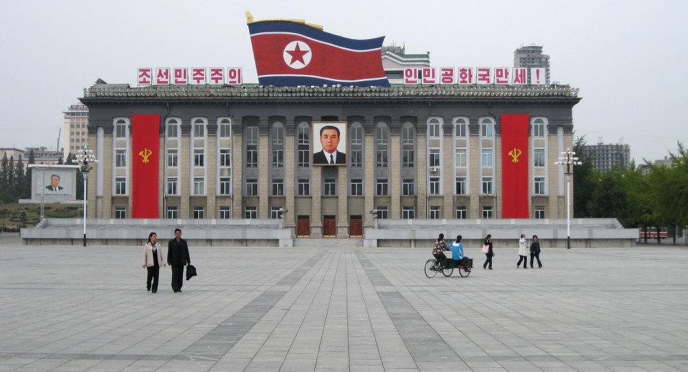 La Place centrale à Pyongyang