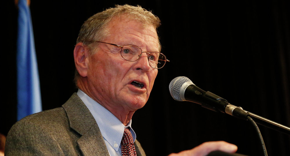 Le sénateur républicain de l'Oklahoma James Inhofe. Archive photo