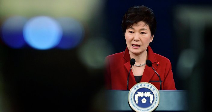 South Korean President Park Geun-Hye speaks during her New Year news conference at the presidential Blue House in Seoul January 12, 2015.