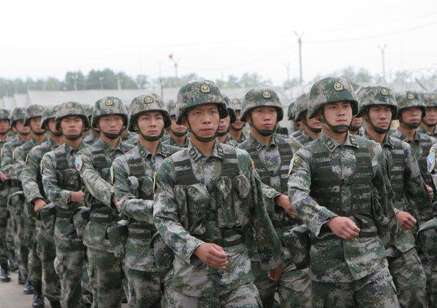 Les soldats chinois