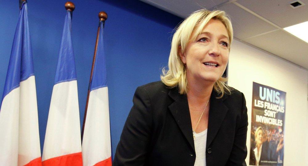 La présidente du Front national (FN) français Marine Le Pen