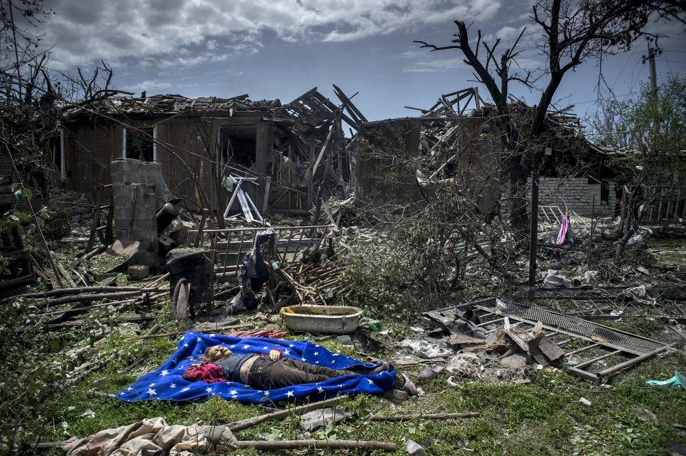 L'est de l'Ukraine après les bombardements