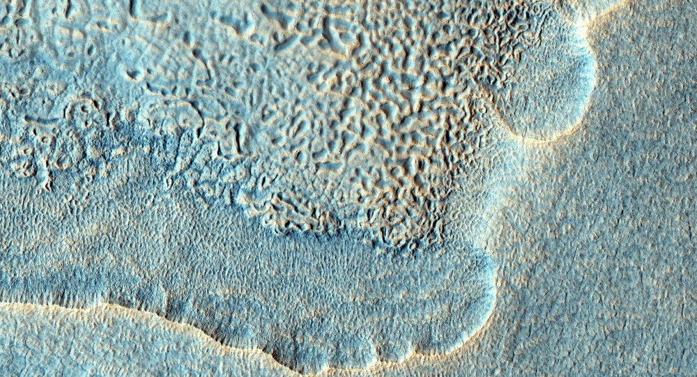 Image de la surface de Mars prise par la caméra HiRise