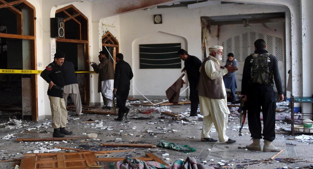 Une mosquée de Peshawar après un attentat