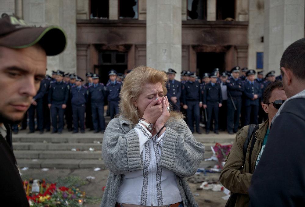 Le 2 mai, les partisans de l'Euromaïdan ont brûlé à Odessa un campement anti-Maïdan