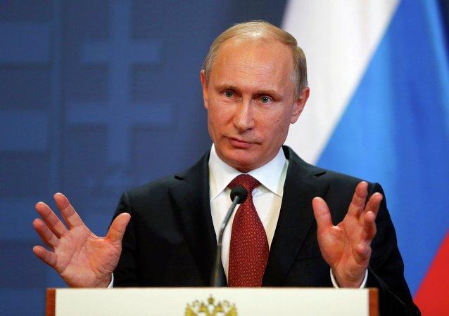 Le président russe Vladimir Poutine lors d'une visite en Hongrie