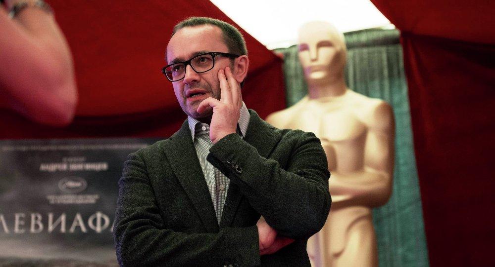 Le réalisateur russe Andreï Zviaguintsev à la 87e cérémonie annuelle des Oscars