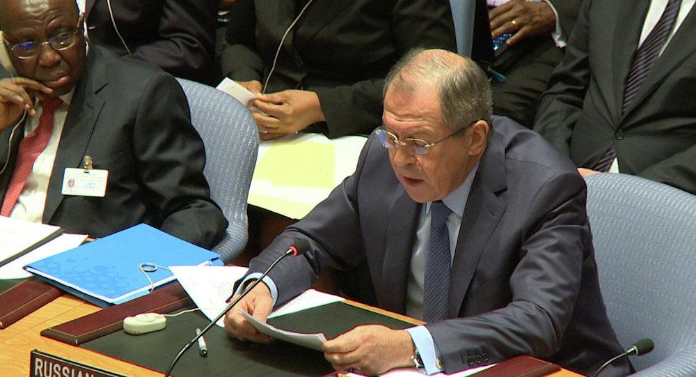 Sergueï Lavrov au Conseil de sécurité de l'Onu