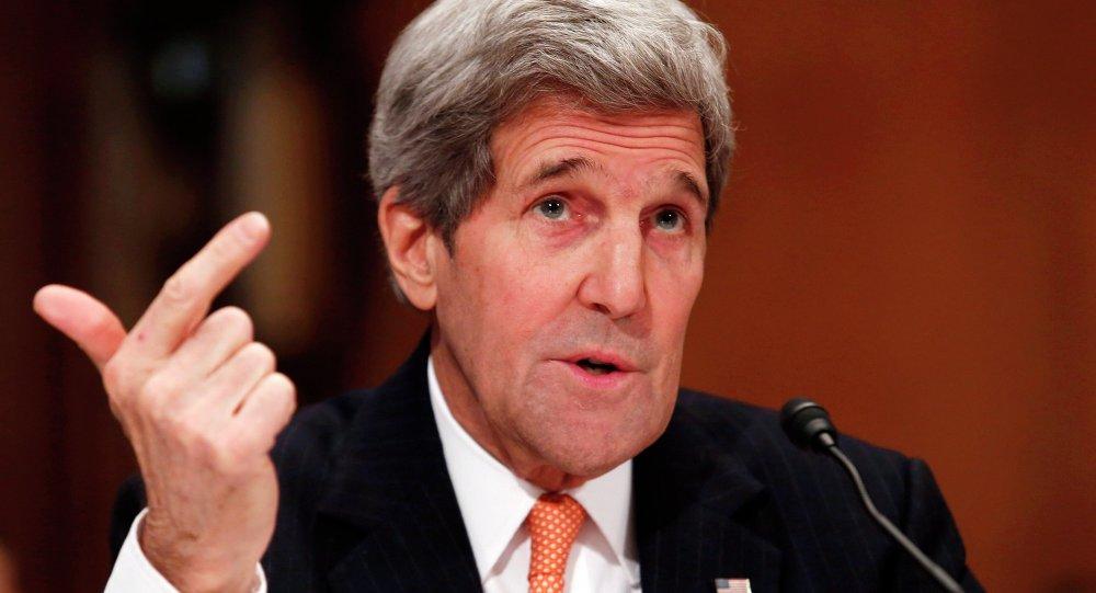 Le secrétaire d'Etat américain John Kerry au Sénat