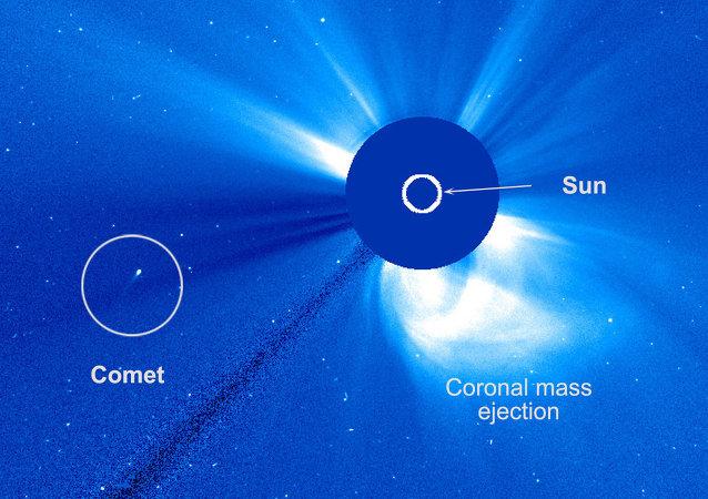 Le télescope américain SOHO a détecté une comète ayant survécu à son survol rapproché du Soleil