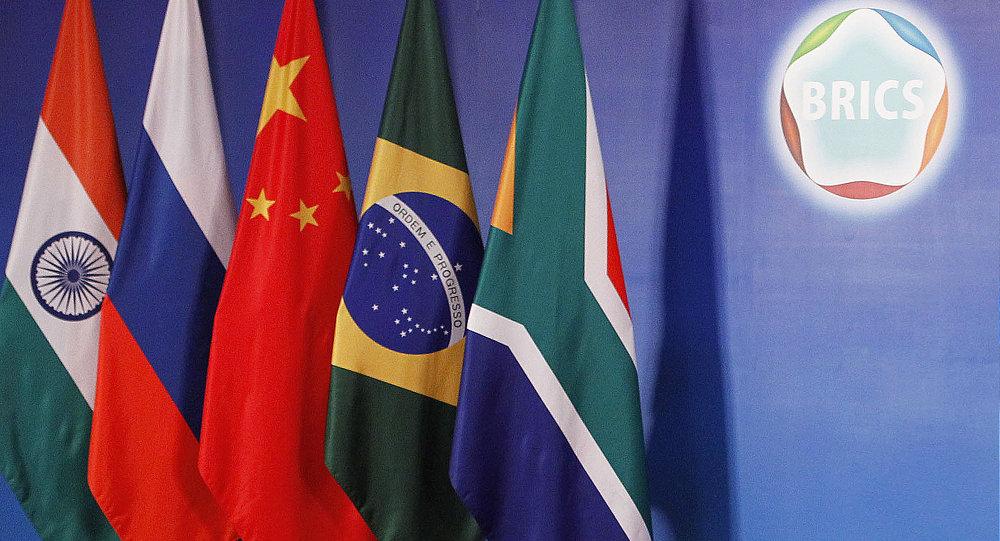 Drapeaux des pays de BRICS