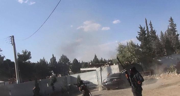 Des djihadistes de l'EI en Syrie