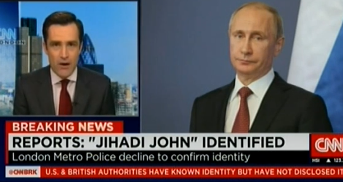 Une image de Vladimir Poutine affichée par la CNN