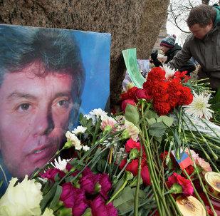 Fleurs à la mémoire de Boris Nemtsov