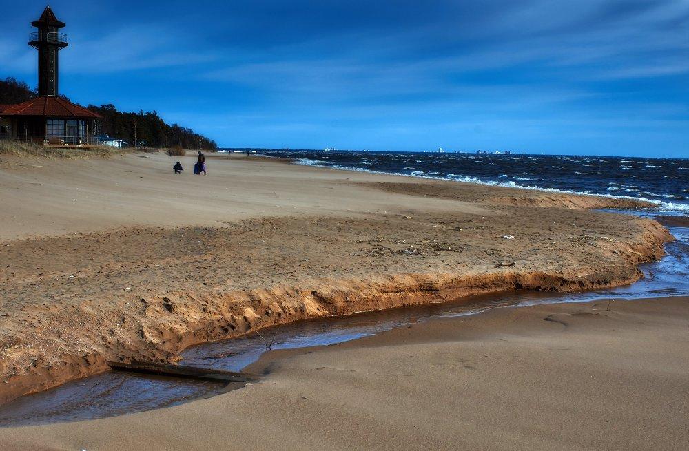 Littoral du Golfe de Finlande, près de Saint-Pétersbourg
