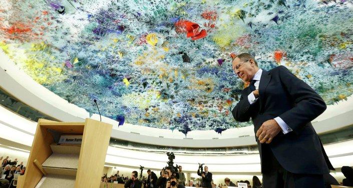 Sergueï Lavrov à Genève Mar. 2, 2015