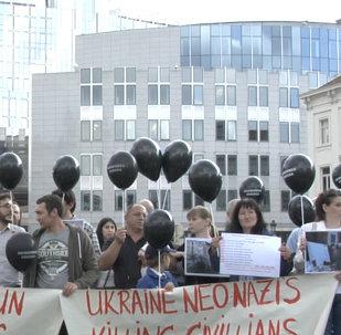 Une manifestation en hommage aux victimes d'Odessa à Bruxelles