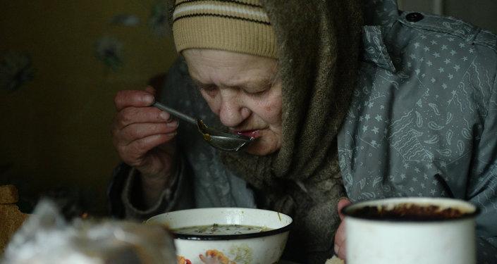 Une habitante de Debaltsevo