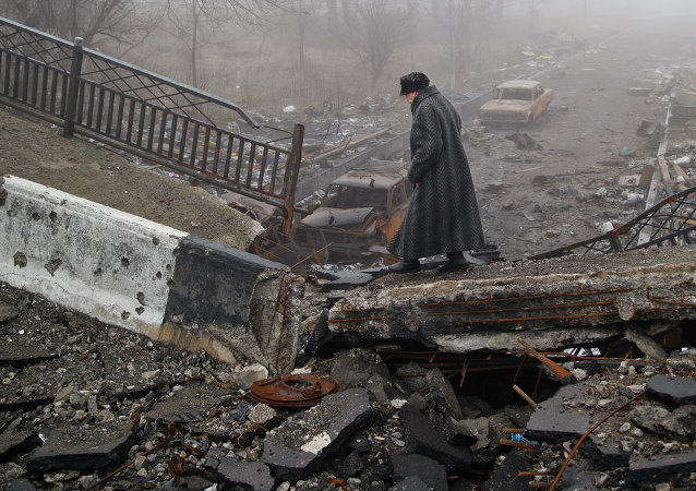 Destructions à Donetsk