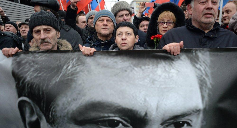 Marche de commémoration de Boris Nemtsov